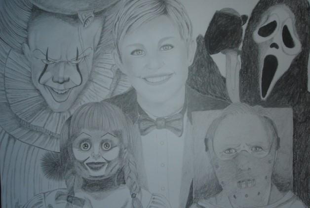Ellen DeGeneres by Mnsgha